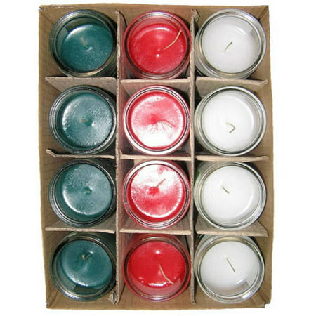 Sanctuary Tall Church Candles, Assorted Colors, 12pk