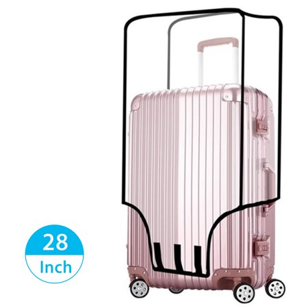 EEEKit Travel Luggage Cover, Waterproof Dust Proof Protector Anti Scratch Translucent Suitcase Baggage Cover for Travel Home Use (Baggage Coach)
