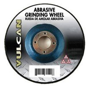 Vulcan Type 27, Depressed Center Abrasive Cutoff Wheel, 4-1/2 In Dia, 7/8 In, 15200 Rpm, Silicon Car Depressed Center Flat Car