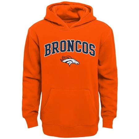 Youth Orange Denver Broncos Clear Gel Fleece