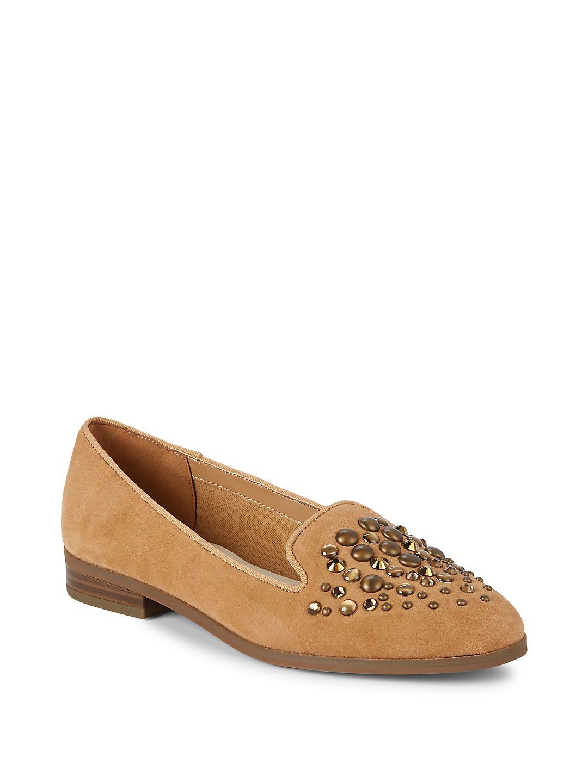 Della Suede Embellished Loafers