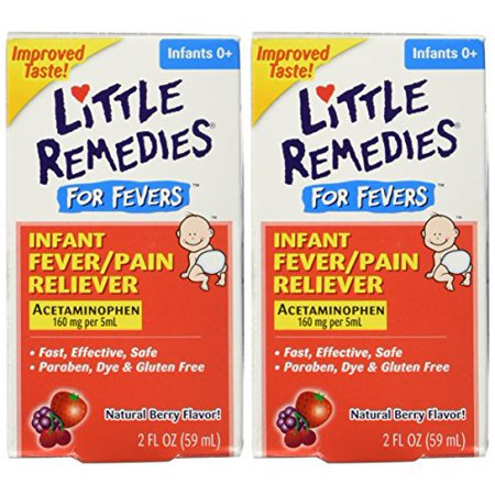 Little Remedies Fever Pain Reliever, Natural Mixed Berry Infants, 2 Fluid