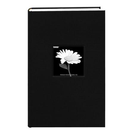 Pioneer Photo Albums Fabric 300 pkt 4x6 Photo Album, Deep Black ()