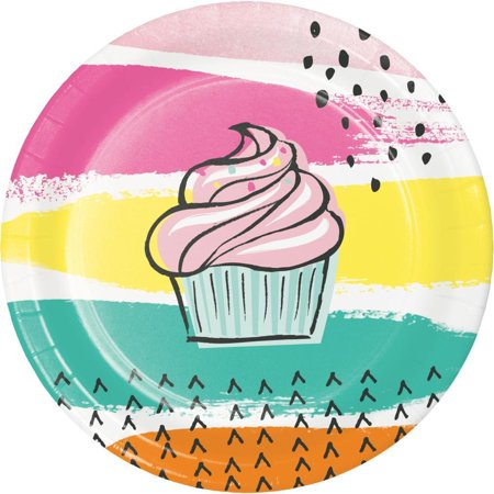 Creative Converting Cupcake Chic Dessert Plates, 8 ct](Creative Ideas For Halloween Cupcakes)