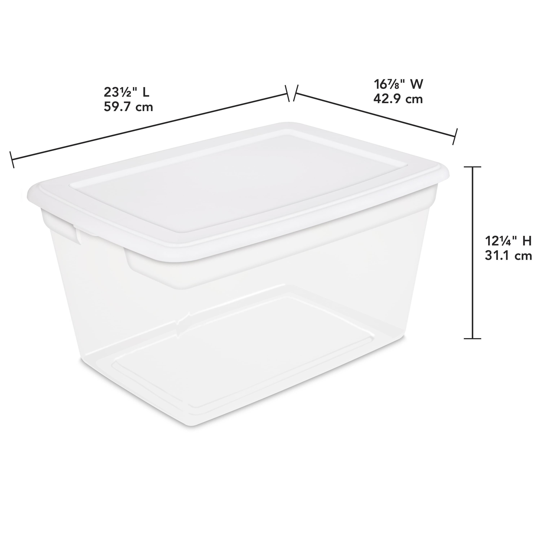 Sterilite 58 Qt./55 L Storage Box, White   Walmart.com