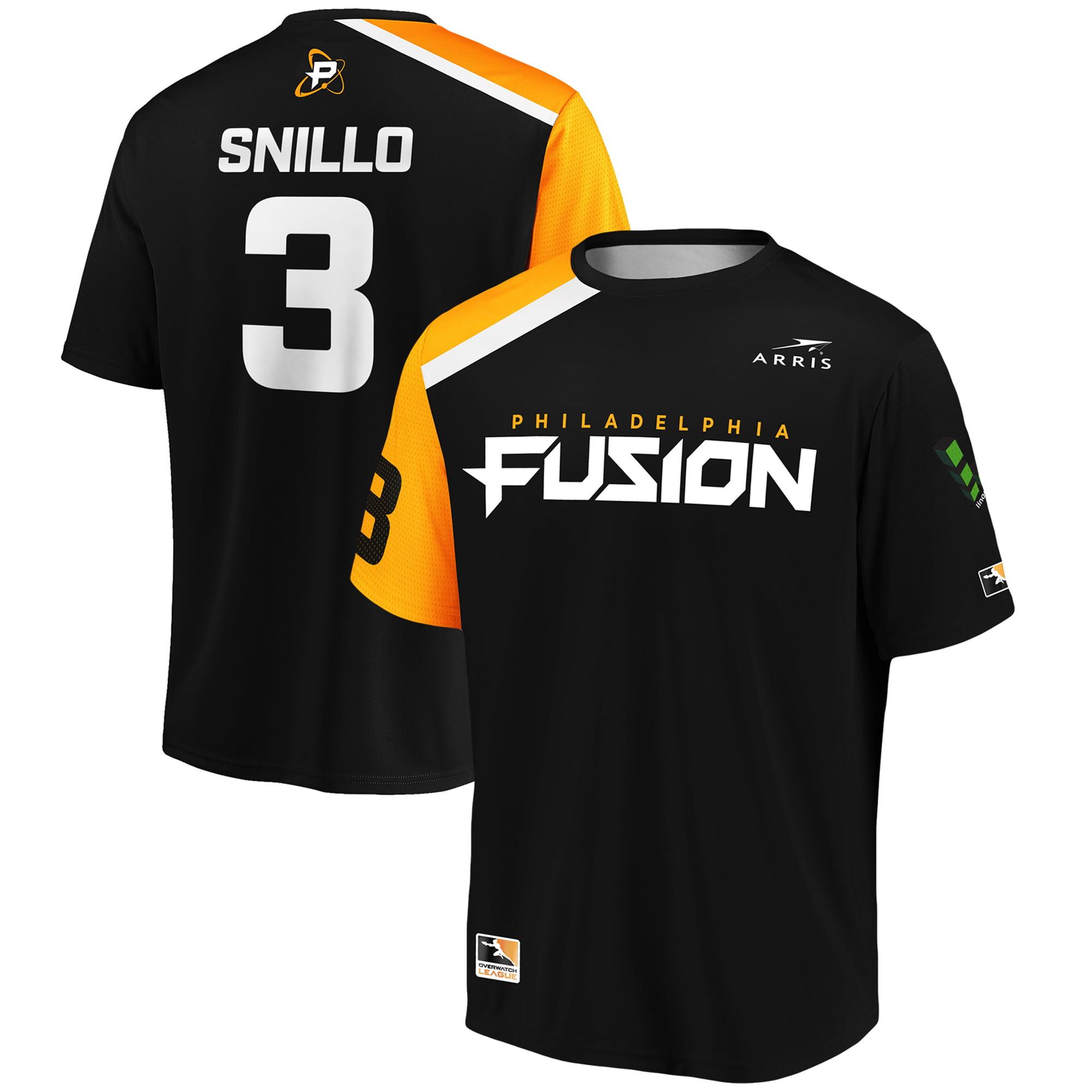 snillo Philadelphia Fusion Overwatch League Replica Home Jersey - Black