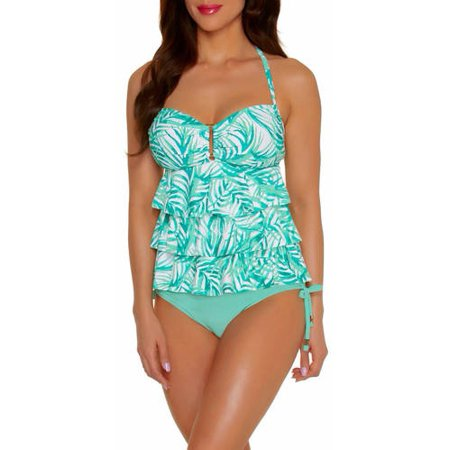 d028784b5b1 Catalina - Collections by Catalina Women s Tiered Ruffle Tankini Swimsuit  Top - Walmart.com