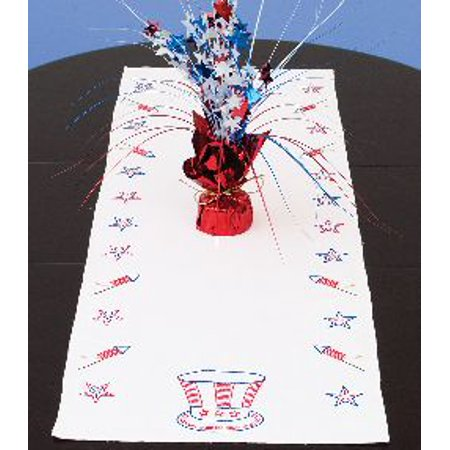 4th Of July Table Runner (Jack Dempsey Independence Day Stamped Table Runner, 15