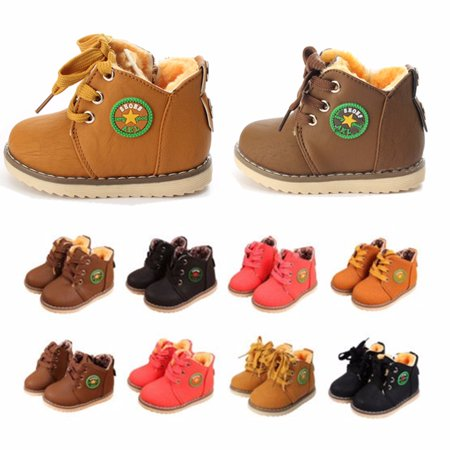 Baby Girl Boy Kids Winter Warm Snow Boots Children Cotton Oxfords
