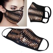 2Pcs unisex Rose Gold Sequin Cloth 3D face mask Protect Reusable Comfy Washable Made In USA masks