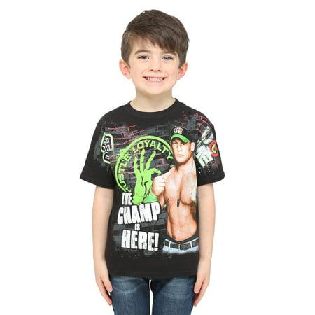 Boys WWE John Cena Champ Is Here T-Shirt