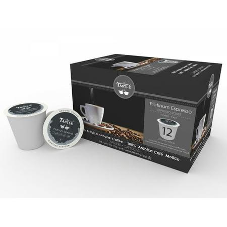 Cafe Tastle Platinum Espresso Roast Single Serve Coffee, 12 Count