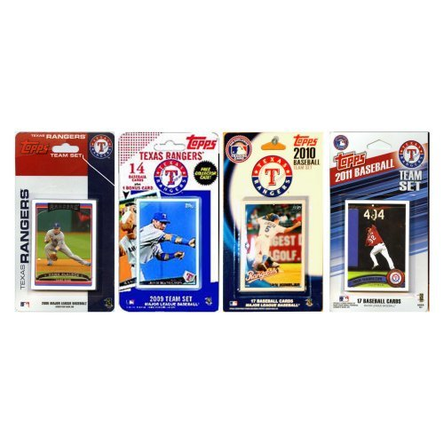 MLB Texas Rangers 4 Different Licensed Trading Card Team Sets