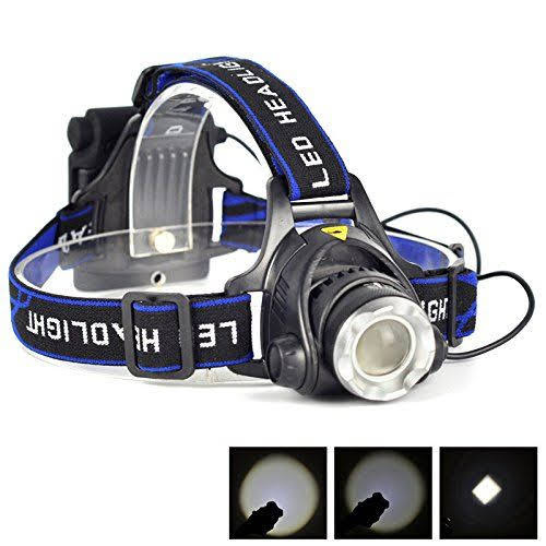 Aluminum 2000 Lumens XM-L T6 LED 18650 Zoomable Headlamp