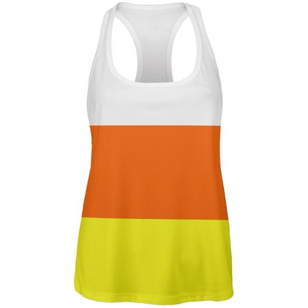 Old Halloween Candy (Halloween Candy Corn Costume All Over Womens Work Out Tank)