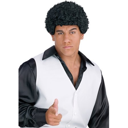 Jheri Curl Wig Adult Halloween Accessory (Brown Wig Halloween)