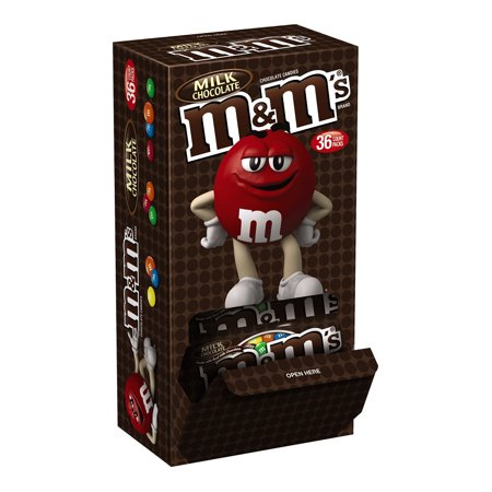 M&M's Milk Chocolate Single Size Candy, 1.69 Ounce, 36 Count - Milk Chocolate M&m's