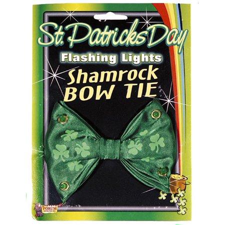 St Patricks Day Flashing Lights Costume Bowtie