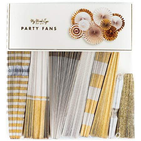 Fancy Party Fans 8/Pkg- (Fancy Party)