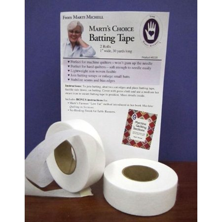 Marketing Package (Marti's Choice Batting Tape 1 Inch Wide, 30 Yards Long, 2 Rolls Per Package By Michell Marketing, Inc. Ship from US)