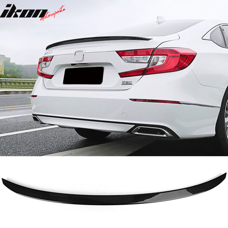 Compatible with 2018 Honda Accord 10th Gen Trunk Spoiler Wing Carbon Fiber