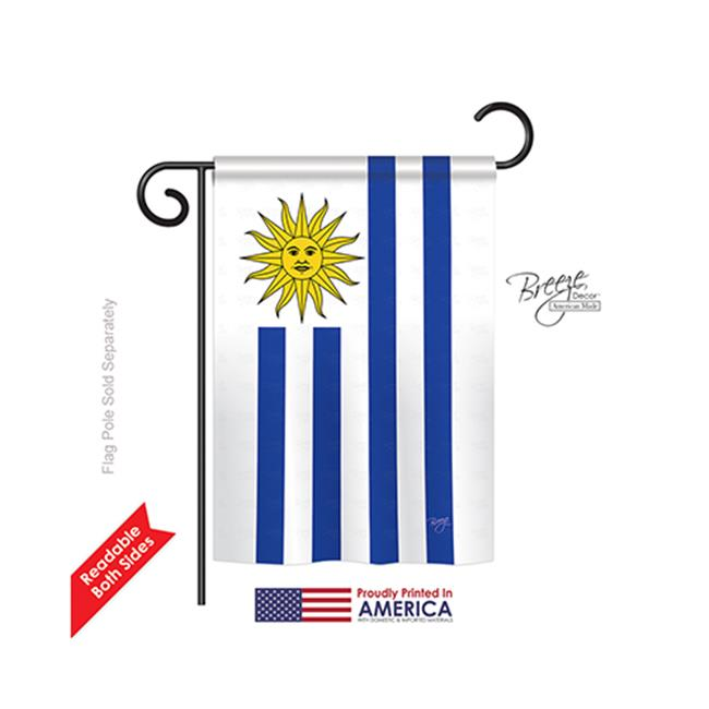 Breeze Decor 58162 Uruguay 2-Sided Impression Garden Flag - 13 x 18.5 in. - image 1 de 1