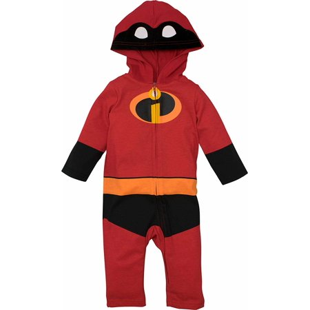 Disney Pixar The Incredibles Baby Boy Girl Costume Coverall with Hood 24 Months for $<!---->