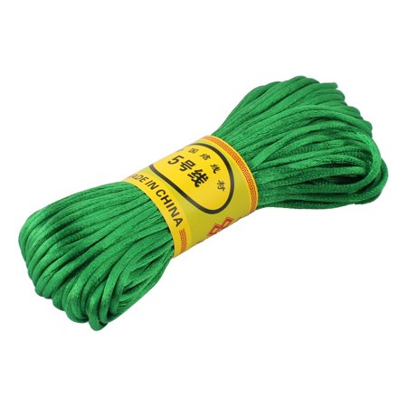 Green Nylon Cord DIY Chinese Knot Macrame Rattail Bracelet Braided String 20M](Green Silly String)