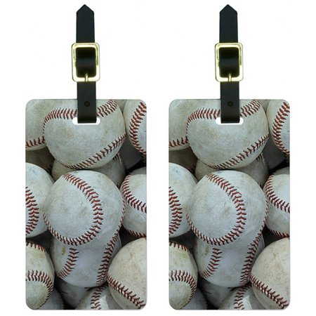 539c8bb55e5a Graphics and More Baseballs Baseball Balls Luggage Tags Suitcase Carry-On  ID, Set of 2