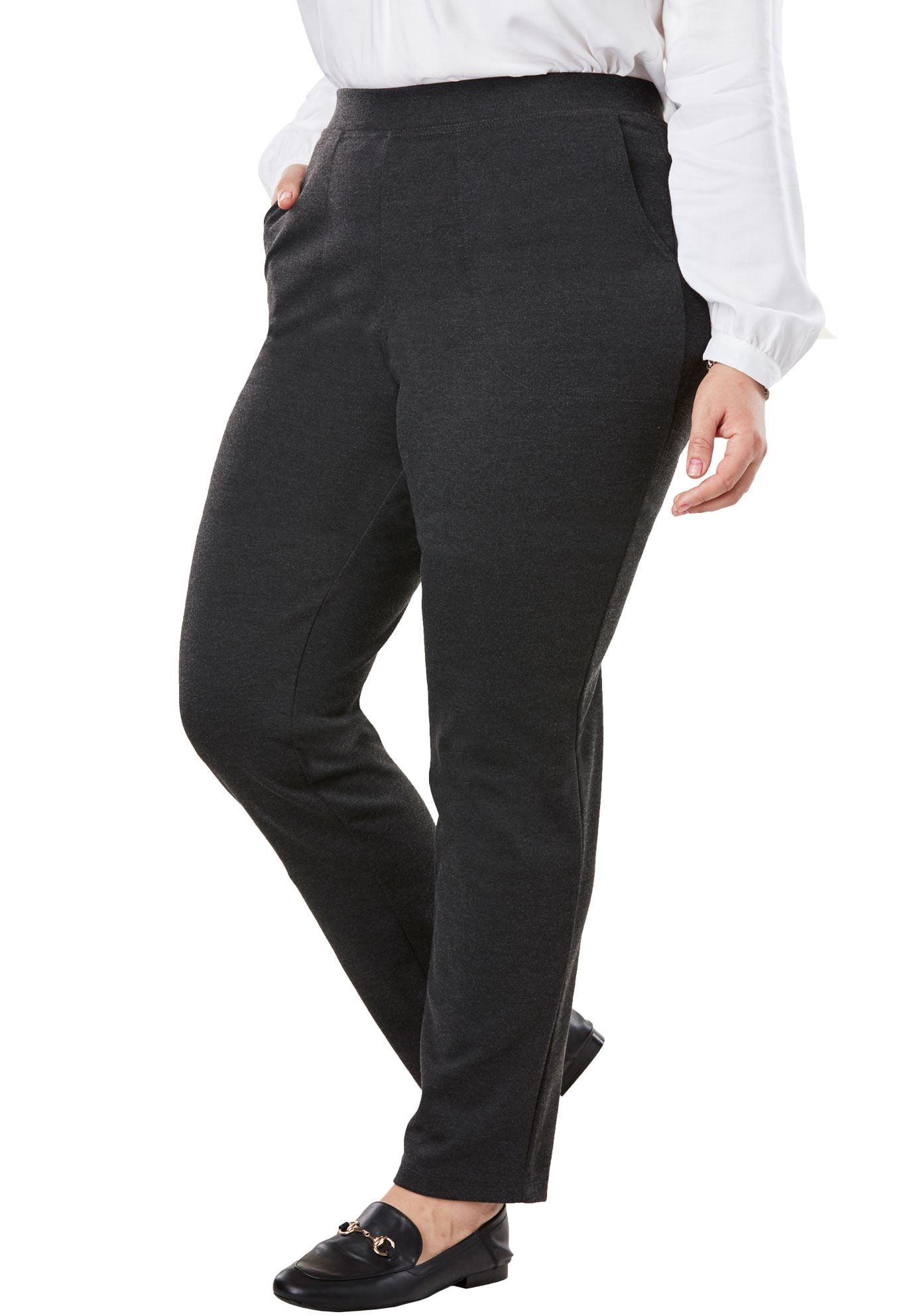Woman Within Plus Size Straight Leg Ponte Knit Pant
