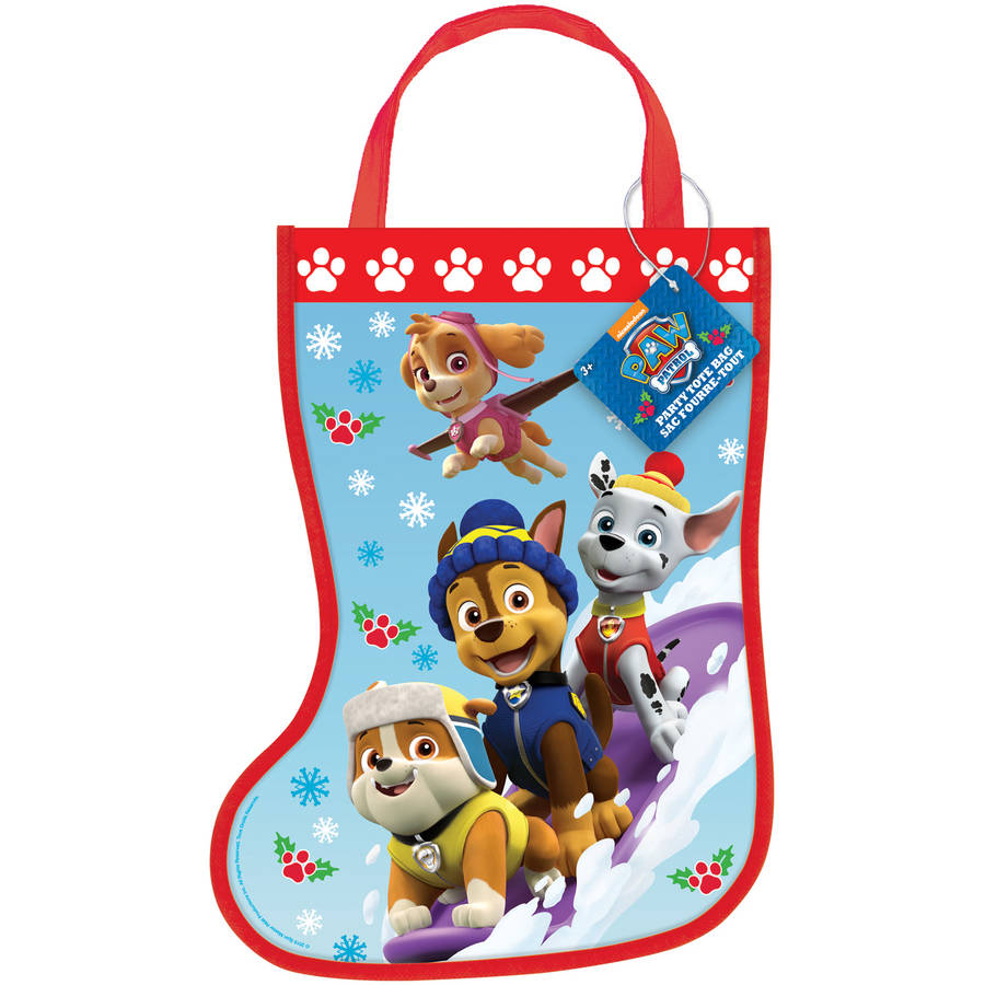 PAW Patrol Christmas Stocking Goodie Bag, 13 x 9.5 in, 1ct