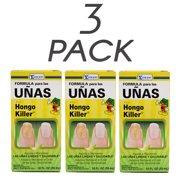Hongo Killer Nail Formula. Treatment for Nail and Toenail Fungus and Discoloration Fix. 1 FO. Pack of 3