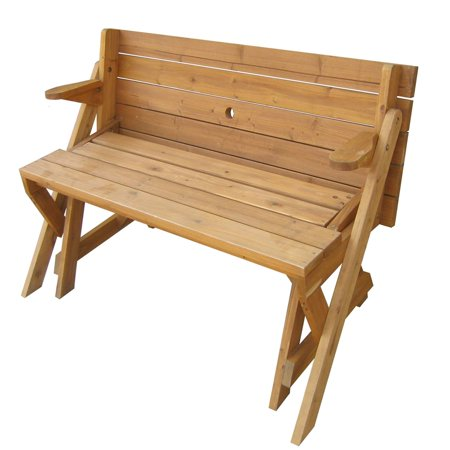 Interchangeable Picnic Table / Garden Bench (Bear At Picnic Table)