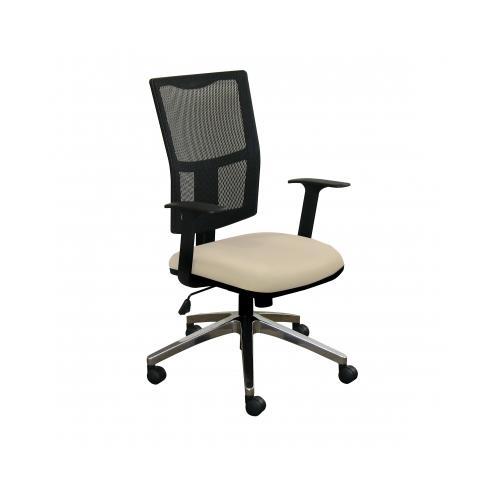 Marvel Task Mesh Chair with Flax Fabric and Aluminum Base MVLWMCTKFA5821