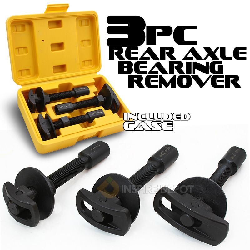 Rear Axle Bearing Puller Remover Service Set with Case, 3PC