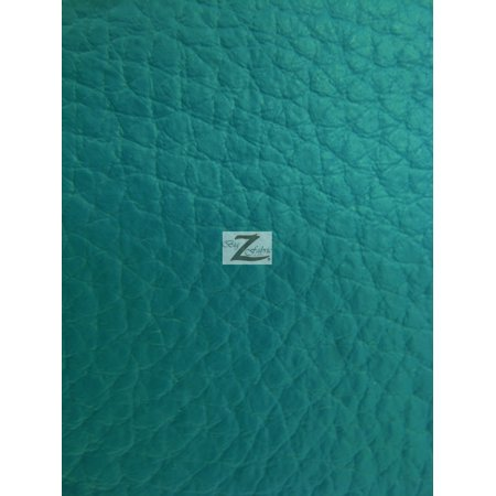 Vinyl Faux Fake Leather Pleather Grain Champion PVC Fabric / Jade / Sold By The Yard ()