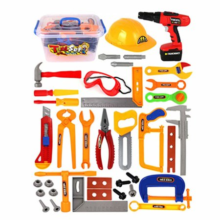 51e309dc8 37PCS Toddler Construction Tools For Kids Tool Set Pretend Play Toy For 3  or 4 Year Old Boy - Walmart.com