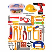 37PCS Toddler Construction Tools For Kids Tool Set Pretend Play Toy 3 Or 4 Year