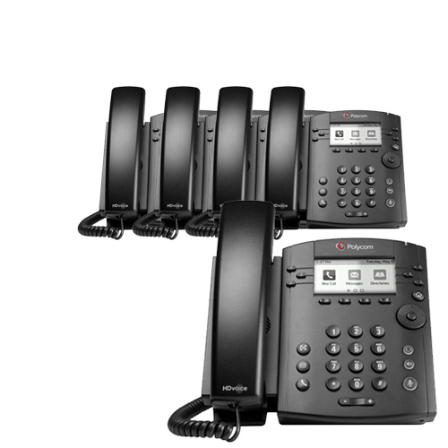 Polycom VVX 310 (5-Pack) 6-line Entry-Level Business Media Phone with Gigabit Ethernet by Polycom