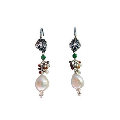 Vivian Yang Gemstone Chinese Dancing Butterfly Drop Earrings