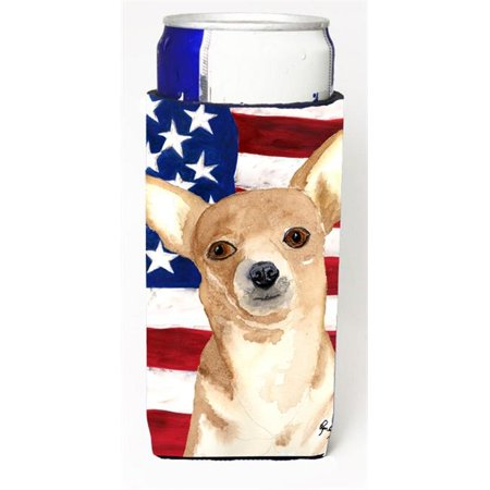 Usa American Flag Chihuahua Michelob Ultra bottle sleeve for Slim Can - image 1 de 1