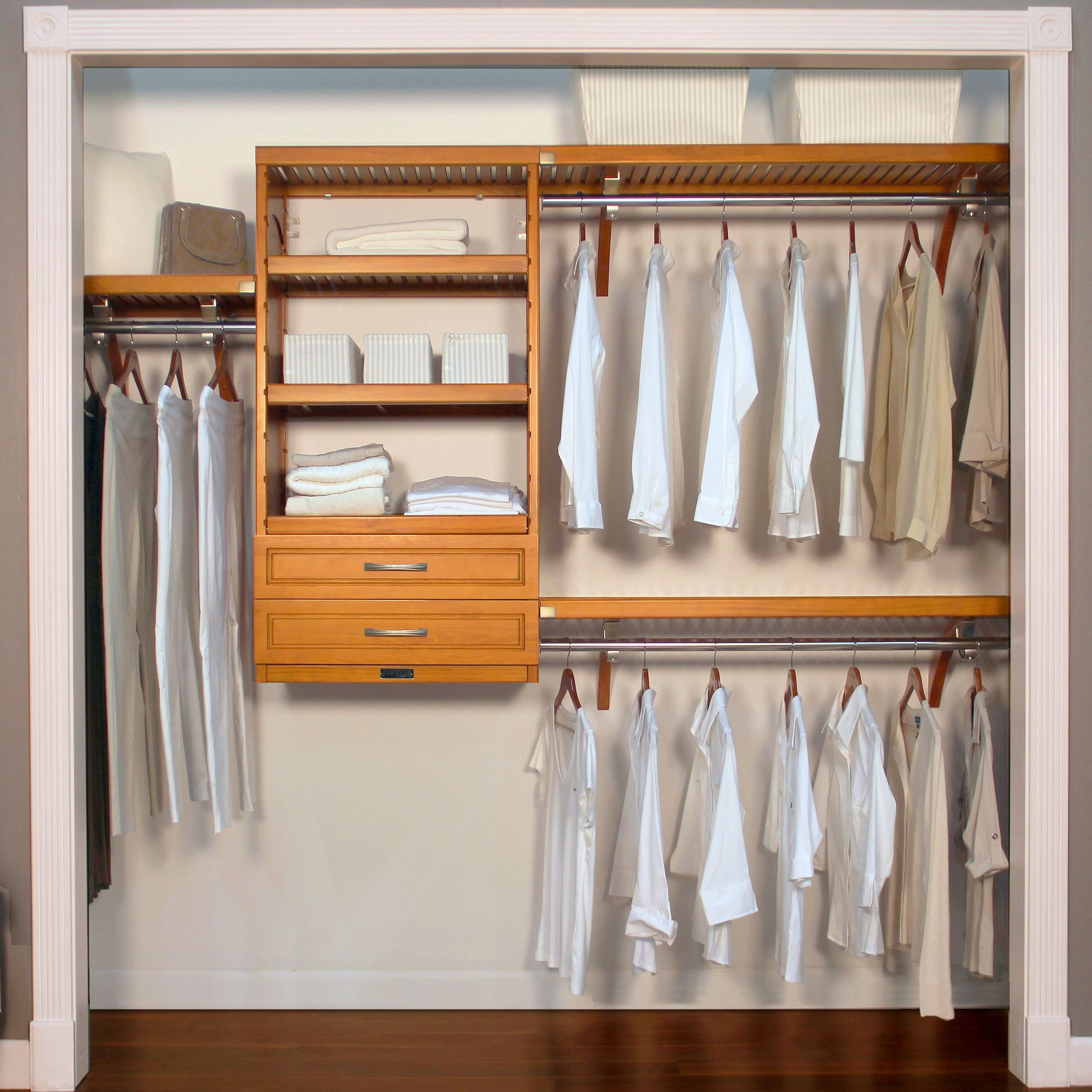 "John Louis Home 16"" Woodcrest Closet System-- Carmel Finish"