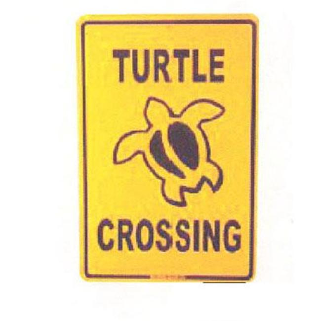 Seaweed Surf Co SF52 12X18 Aluminum Sign Turtle Crossing