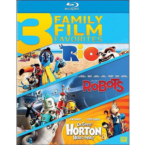 3 Family Film Favorites: Rio / Robots / Dr. Seuss' Horton Hears A Who! (Blu-ray)