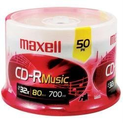 Maxell 625156 Cdr80mu50pk Music Cd-Rs 50-Pack by Maxell