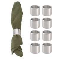 Product Image InterDesign (8 Pack) Stainless Steel Napkin Rings Set For  Kitchen Décor Dining Table Wedding 77aea8ab39a7