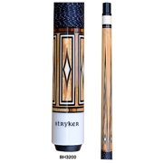 Stryker BH3200 Pool Cue Stick Nat w/ Linen Wrap + Quick-Release Joint+ Joint Protectors