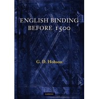 English Binding Before 1500