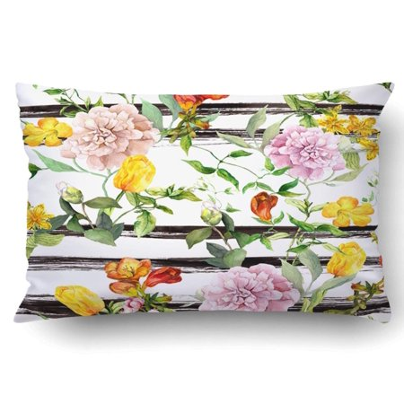 - BPBOP Flowers At Monochrome Striped Repeating Floral Black Stripes Pillowcase Pillow Cushion Cover 20x30 inch