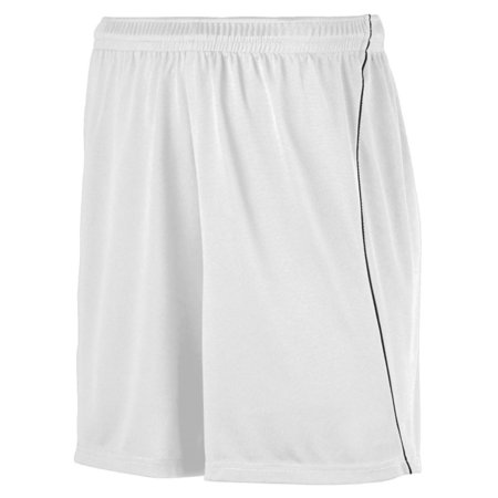 Augusta Wkng Soccer Short W/Piping Whi/Blk M - image 1 of 1